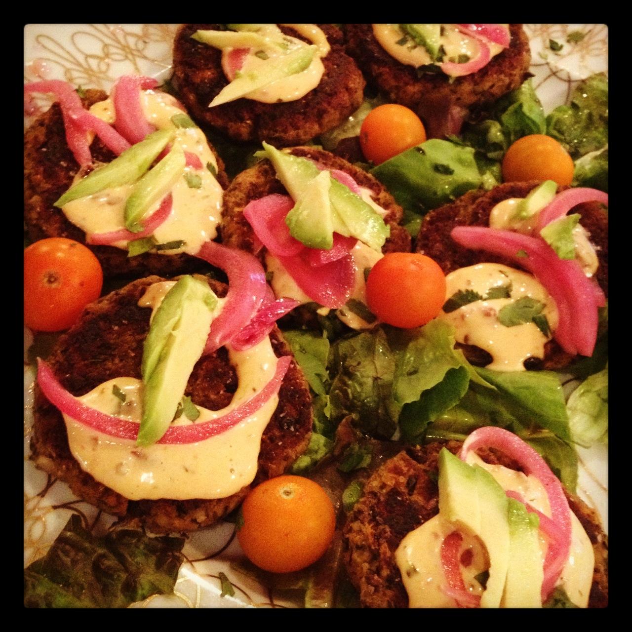 Veggie Burgers at Comfort Kitchen